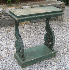 late 19th century aqua console table