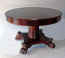 American Empire Period mahogany dining table c1825