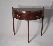 English two drawer mahogany D shaped c1790
