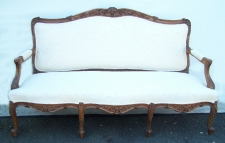 French provincial walnut canape c1880