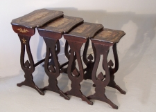 China Trade black lacquered nesting tables