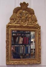 17th C Spanish gold leaf wall mirror