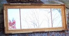 American Federal gold leaf over mantel mirror c1830