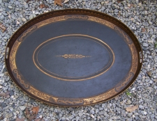 Early American tin tole serving tray c1820