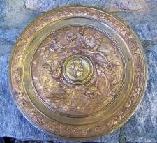 Louis Emile Cana bronze charger plaque c1890