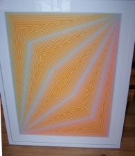 Original Serigraph Inward Eye Richard Joseph Anuszkiewicz c1970