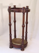 American Victorian black walnut umbrella stand c1865