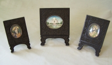 Taj Mahal framed miniature paintings c1880