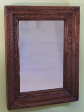 Hand carved 19th century Continental frame with mirror c1830 to 1860
