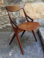 Mid Century Modern teak scissors chair c1960