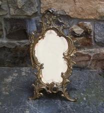 Rococo style beveled glass vanity mirror c1900
