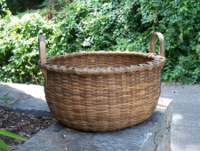 Rare large Taconic splint handle basket