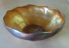 LC Tiffany NY 1901 Favrile art glass bowl