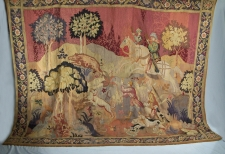 18th century French  hunting scene tapestry