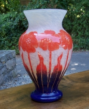 Degue French Art Deco glass vase c1920