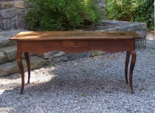 Louis XV walnut country server  sofa table c1750 with drawer