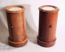Pair William IV mahogany bedside cabinets