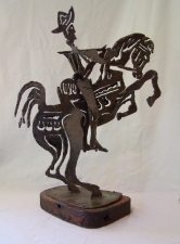 Don Quixote abstract iron sculpture c1960