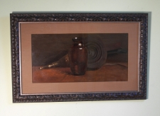 Fannie Burr still life oil painting  on artist board c1895