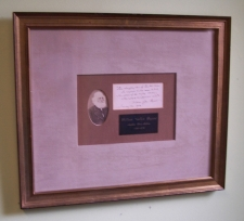 W C Bryant handwritten poem and photograph c1872
