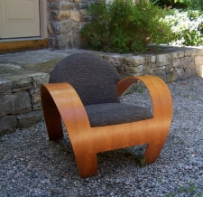 Vintage modern bentwood cherry side chair