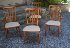 Koefoeds Hornslet Danish Modern teak dining chairs Demark c1960