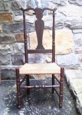 Period Antique Connecticut Queen Anne side chair c1725