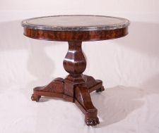 French  marble top gueridon center table c1835