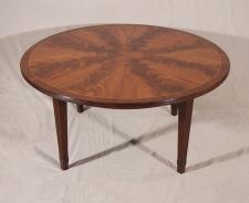 Schmieg and Kolzian round mahogany coffee table c1920