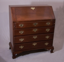 American Chippendale style 19thc drop front cherry desk