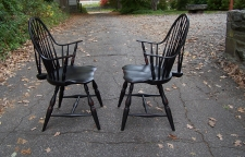 Pr continuous bow Windsor arm chairs by Paul M Rider