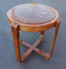 Art Deco lamp table with round walnut  sextagon top c1920