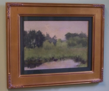 Fannie Burr impressionist landscape watercolor c1880