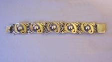 Vintage Felipe Martinez Taxco  sterling silver bracelet c1950