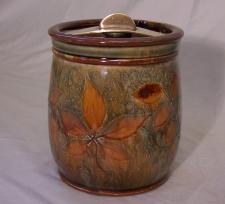 Royal Doulton art pottery tobacco humidor c1930