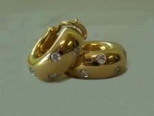 Tiffany Etoile 18K yellow gold platinum diamond earrings