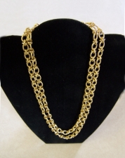 Vintage 18k gold Italian chain link necklace