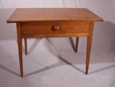 New England pine tavern table with drawer c1790