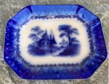 T J  J Mayer Arabesque Chinese Porcelaine flow blue platter