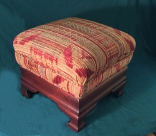 American Federal Empire upholstered footstool c1860