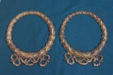 Antique classical gilt cast iron wreaths