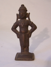 Early bronze devotional altar figure India c1800
