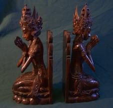Niana Tilem Gallery Bali wood bookends