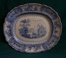 Thomas Mayer Canova blue and white Staffordshire platter
