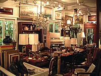 another picture of antiques in the antique shop